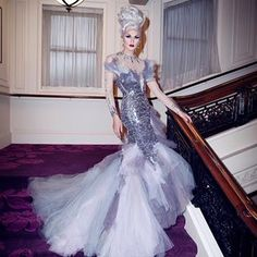 """And honestly, we can all agree, this runway look was one of the greatest of all-time. Here's The """"Period Gown"""" Rupaul Wouldn't Let A """"Drag Race"""" Contestant Wear Because It Was In """"Bad Taste"""" Drag Queen Costumes, Drag Queen Outfits, Valentina Drag, Manila Luzon, Rupaul Drag Queen, All Star, Glamour, Linda Evangelista, Look Fashion"""