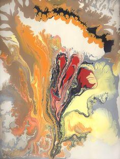 "'River Delta' by Pamela Gatens | $250 | 18""w x 24""h | Original Art | https://www.arttwo50.com/buy/art/river-delta"