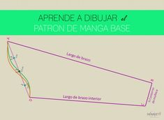 patron-manga-dibujar Diy Sewing Projects, Sewing Hacks, Bodice Pattern, Sewing Techniques, Diy Clothes, Diy And Crafts, Learning, Tips, How To Make