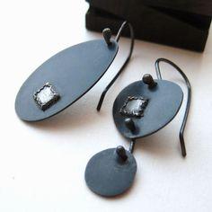Asymmetrical Earrings | Lauren Markley  | Contemporary Handmade Jewelry