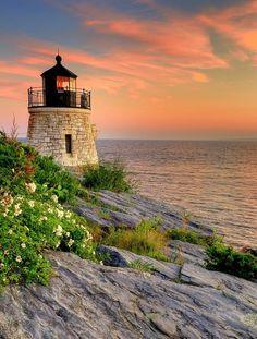 Castle Hill Lighthouse - Rhode Island | Rhode Island! #ChemArt #Hometown #RI #ChemArtCompany