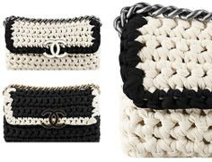 kinda need this but can already see my bracelets snagging the crap out of the bag lol bolso de Crochet Clutch, Crochet Purses, Knit Crochet, Crochet Bags, Diy Clutch, Clutch Bag, Chanel Clutch, Coco Chanel Bags, Chanel Chanel