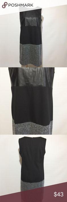 CALVIN KLEIN MIXED MEDIA SHIFT DRESS NWT Calvin Klein Dresses Midi