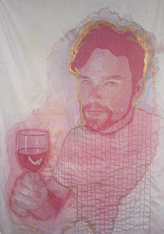 Wine Stain Portraits by Amelia Fais Harnas