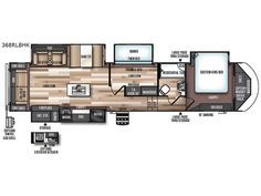 New 2018 Forest River RV Wildwood Heritage Glen Fifth Wheel at General RV Luxury Camping, Rv Camping, Rv Floor Plans, House Plans, Birch Run, 5th Wheel Camper, Trailer Plans, Forest River Rv, Rv Makeover