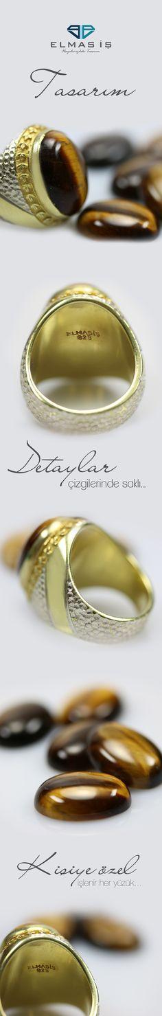 Elmas İş kalitesiyle tasarlanıp üretilecek olan Hanzade Kaplan Gözü Taşlı Erkek Gümüş Yüzük  modeli 925 ayar gümüş olup ömür boyu garantilidir. İsteğinize göre ürünleriniz 10 ve 14 ayar sarı ve beyaz altın seçenekleri ile üretilmektedir.