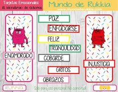 juego monstruo de colores, educacion emocional, monstruo de colores, actividades monstruo de colores, aprender emociones, imprimible monstruo de colores, mundo de rukkia