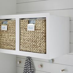 Water Hyacinth Storage Bins with Handles Toy Storage Cubes, Plastic Storage, Storage Bins, Cube Storage Baskets, Cabinet Storage, Pantry Storage, Small Storage, Ikea Kallax Bookshelf, Bookshelves