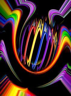 'Creations in the color spectrum of the rainbow 5' von Walter Zettl bei artflakes.com als Poster oder Kunstdruck $22.17