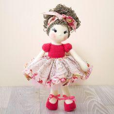 Reserved FREE SHIPPING Amigurumi crochet doll Pretty