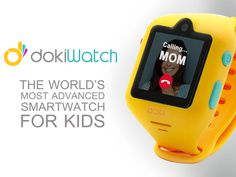 dokiWatch: First-ever smartwatch for kids to feature video calling. All-in-one wearable phone, GPS locator, fitness tracker, and more!