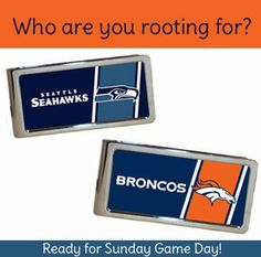 Who are You Rooting For? Personalized Emblem NFL Money Clips #superbowl #gifts