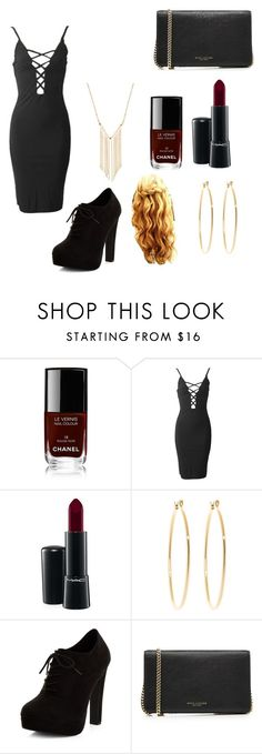 """""""Untitled #93"""" by allison-2419 ❤ liked on Polyvore featuring Chanel, MAC Cosmetics, Brooks Brothers, New Look, Marc Jacobs and Gemelli"""