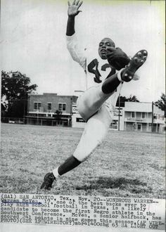"""Warren McVea (born July 30, 1946 in San Antonio, Texas) was a football player who made civil rights history by becoming the first African-American to play the sport for the University of Houston.  McVea, known as """"Wondrous Warren"""" during his high school football career at San Antonio's Brackenridge High School, was a multi-faceted player, serving as running back, flanker and a punt/kick return specialist. Offered scholarships by 73 colleges in 1964, McVea signed with Houston and during his…"""