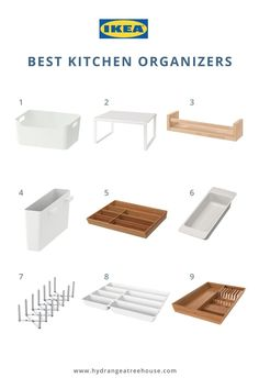 This post is all about IKEA kitchen organization ideas. I'm sharing how to plan Ikea kitchen cabinets layout, cabinet drawer vs door, and best Ikea kitchen organizers. Ikea Kitchen Drawer Organization, Ikea Drawer Organizer, Ikea Kitchen Drawers, Ikea Kitchen Organization, Ikea Kitchen Cabinets, Ikea Storage, Kitchen Organizers, Organization Ideas, Kitchen Cabinet Inspiration