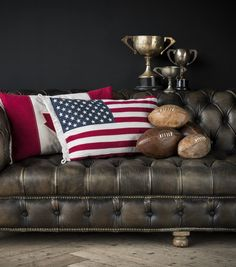 From boxing gloves to footballs, these hand-stitched leather collectibles are nostalgic of collegiate lifestyle. Unique British designs by Timothy Oulton. Exterior Design, Interior And Exterior, The Sporting Life, Lots Of Windows, Cozy Place, Stitching Leather, Black Decor, Vintage Leather, Home Accessories