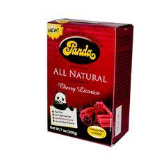Panda All Natural Cherry Licorice - 7 oz - Case of 12