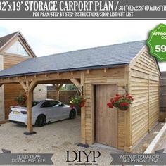 Carport Sheds, Carport Plans, Carport Garage, Shed Plans, Double Carport, Pergola Carport, House Plans, Lean To Carport, Enclosed Carport