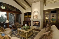 Mediterranean Living Photos Tuscan Style Design Ideas, Pictures, Remodel, and Decor - page 8