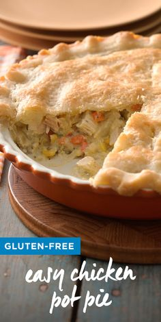 Chicken pie is comfort food at its best--now it's gluten free! Wheat Free Recipes, Dairy Free Recipes, Bbc Good Food Recipes, Cooking Recipes, Soup Recipes, Salad Recipes, Dinner Recipes, Yummy Food, Easy Chicken Pot Pie