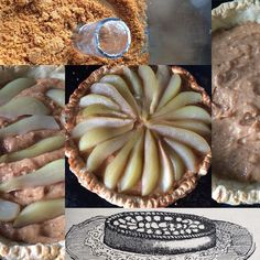 2 OF 2 Flan de Poires a la crème pralinée La Cuisine Pratique Pear and praline tart #patisserie