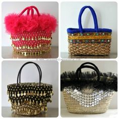 Handmade Handbags...be nice to have one bag and interchangeable details :)