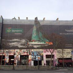Affichage évènementiel pour Groupama sur les Champs Elysées