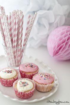 Paper straw - light pink (Miss Étoile)  www.hemlangtan.com