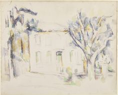 Cezanne, House in Provence, 1890-94, watercolour and graphite