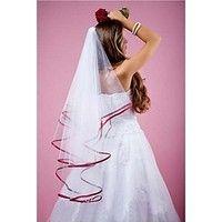2015 New white Wedding Bridal veil Custom Made Satin Edge Veil With Comb Simple Wedding Veil, Wedding Veils, Tulle, Red Wedding Dresses, White Bridal, Shopping, Red Satin, Wedding Ideas, Vestidos