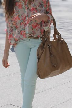 Spring fashion! We have lovely sorbet tones and florals coming... YES! Passion For Fashion, Love Fashion, Floral Fashion, Fashion Beauty, Fashion Outfits, Womens Fashion, Fashion Ideas, Spring 2014, Spring Summer Fashion