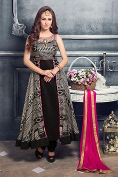 Show details for Splendid printed grey & black long suit