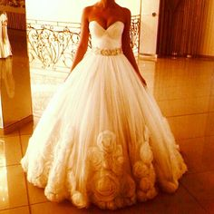 Wedding Dress with beautiful floral detail