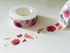 Flowers and Fruit Washi Tape by GoatGirlMH on Etsy