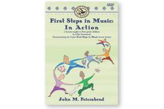 FIRST STEPS IN MUSIC: In Action DVD - Lillie Feierabend engages two general music classes of 6 year olds, demonstrating all 8 parts of John Feierabend's First Steps In Music Curriculum.Many extra activities and teaching techniques, too.