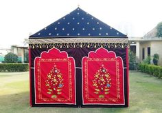 Looking for that very special wedding tent, check this Red & Black tent