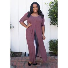 Chic Maxi Top and leggings outfit  #maxiTOp #plussize #plussizefashion #outfit #springoutfit