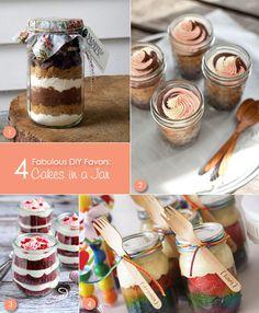 DIY cake jars #homebakedfavors #cakeinjars #edibleweddingfavors