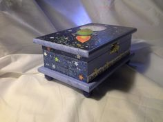 Hand crafted space theme box for a boy. $27.00 http:www.etsy.com/Enchantedgiftss? ref=si_shop