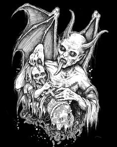 At least that& how I feel when I look at his stuff. So, let& not delay, and take a gander at some of Mark Riddick& work. Arte Horror, Horror Art, Dark Fantasy, Fantasy Art, Art Sketches, Art Drawings, Satanic Art, Evil Art, Dark Artwork