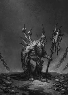 ArtStation - The Art of Warcraft Film - Gul'dan , Wei Wang