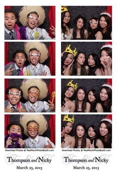 Wedding Photo Booth Strips  http://www.madmochiphotobooth.com