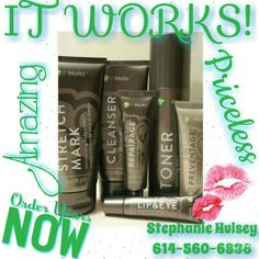 I never go a day with out using any of my💚It Works💚 Skin Care line and my Stretch Mark Cream!💚 😉Cleanser: Removes all oil, dirt, and makeup—even waterproof mascara! Clean-rinsing lather leaves skin soft and silky smooth, Beautifying botanicals gently cleanse without drying Formulated for all skin types, Pair with the Facial to maximize your results.💯  😄Toner: Rebalances skin to its natural pH level,Tightens and lessens the appearance of pores, Hydrates and nourishes skin with…