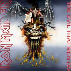 Iron Maiden Album Covers | Iron Maiden - The Evil That Men Do