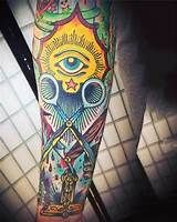 Tap into an ancient secret society with the top 90 best Masonic tattoos for men. Explore cool Freemasonry ink designs with mysterious symbols. Masonic Tattoos, Masonic Symbols, Detailed Tattoo, All Seeing Eye, Freemasonry, Tattoo Inspiration, I Tattoo, Sleeve Tattoos, Tattoos For Guys
