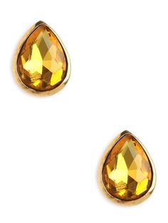 There's a reason the teardrop silhouette is such a classic with jewelry designers—it's elegant, simple and consummately chic. Here, crafted from gold and gobstopper citrine gems, it's plenty glam as well.
