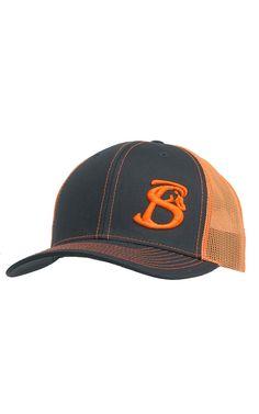 e1cae0567f8 Stackin Bills Grey with Neon Orange Mesh Logo Snapback Cap GNYSNAP Western  Hats