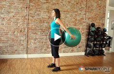 You don't need weights to give your arms a great workout. Here are some creative, effective--and deceptively difficult exercises you can use to tone your upper body using just an inflatable stability ball. Just 6 minutes for the whole workout! | via @SparkPeople #fitness #video #exercise