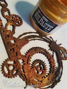 Mixed Media Place: How to use Rust Effect Paste by Nirvana