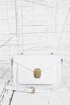 Front Lock Satchel in White